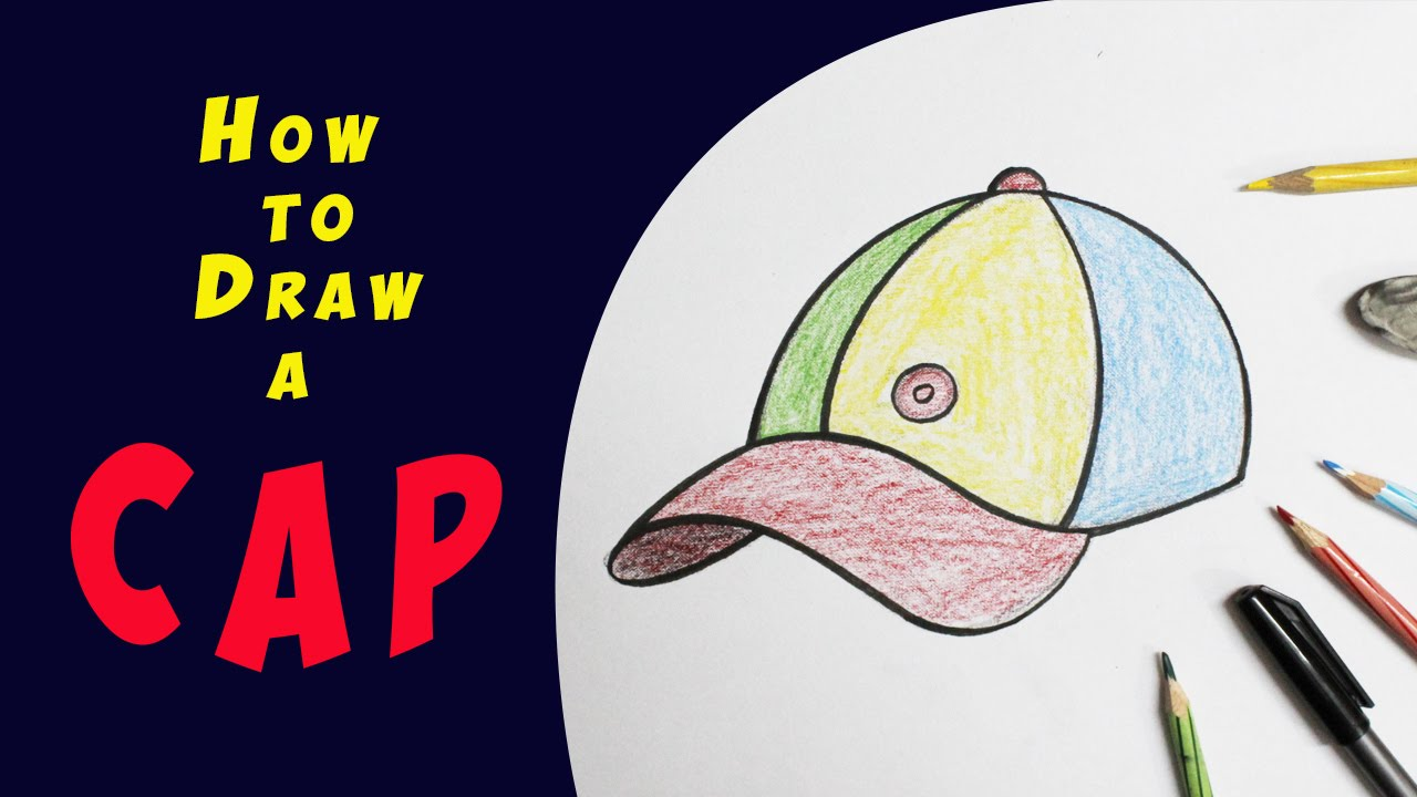 1280x720 How To Draw A Cap Step By Step