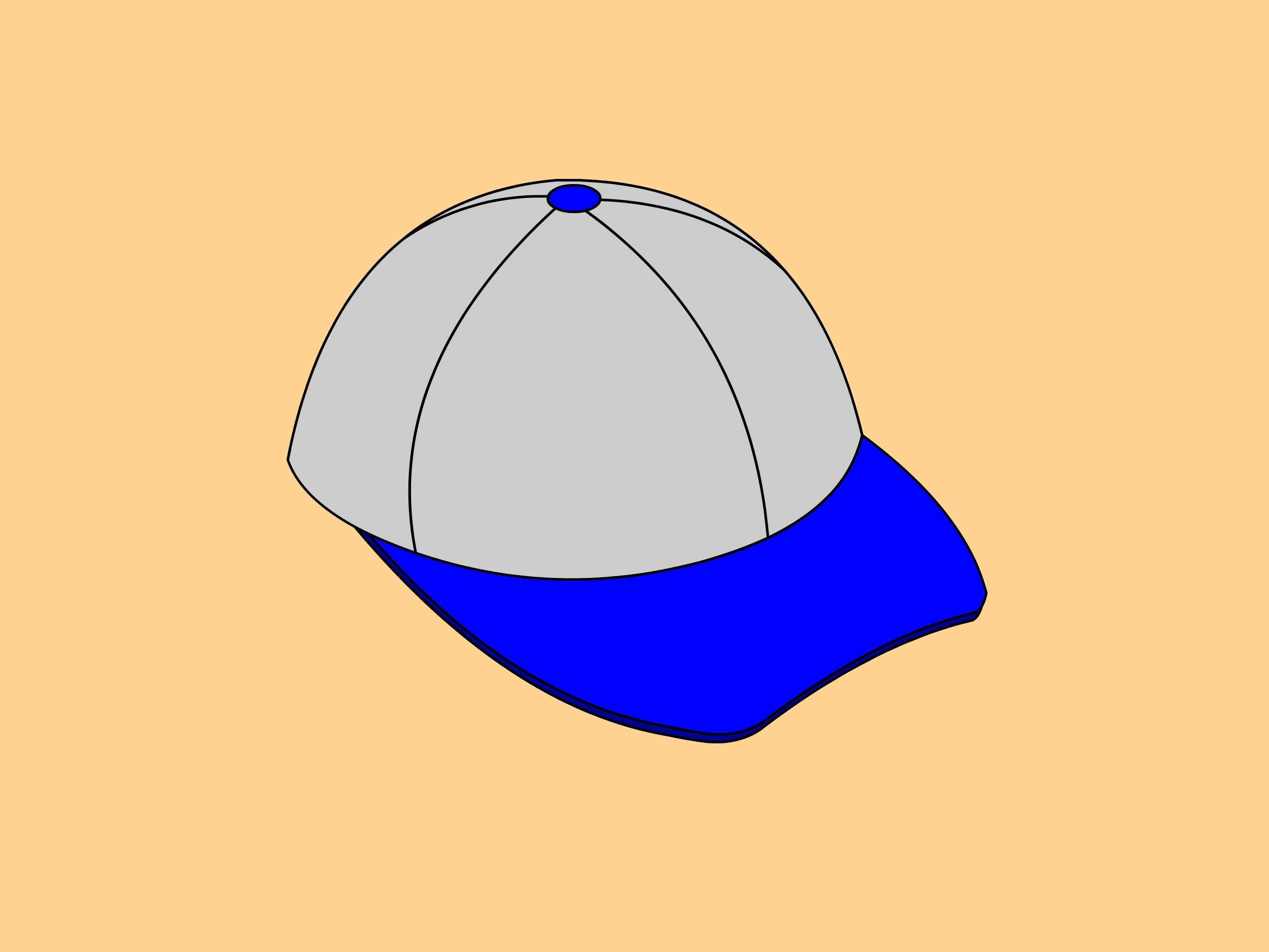 3200x2400 How To Draw A Baseball Cap 10 Steps (With Pictures)