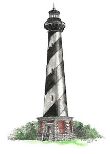 214x300 Cape Hatteras Lighthouse Drawings Fine Art America