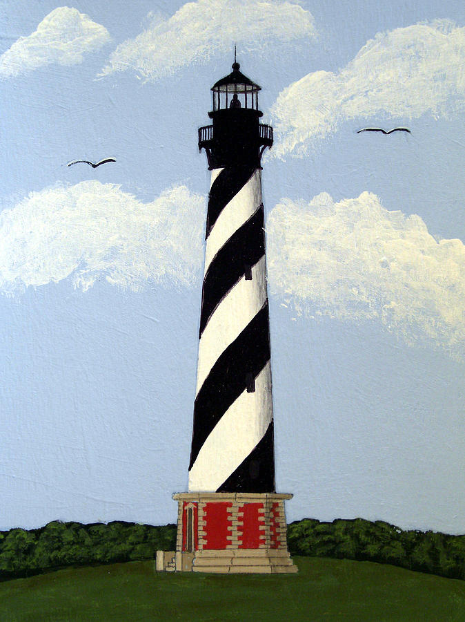 674x900 Cape Hatteras Lighthouse Painting By Frederic Kohli