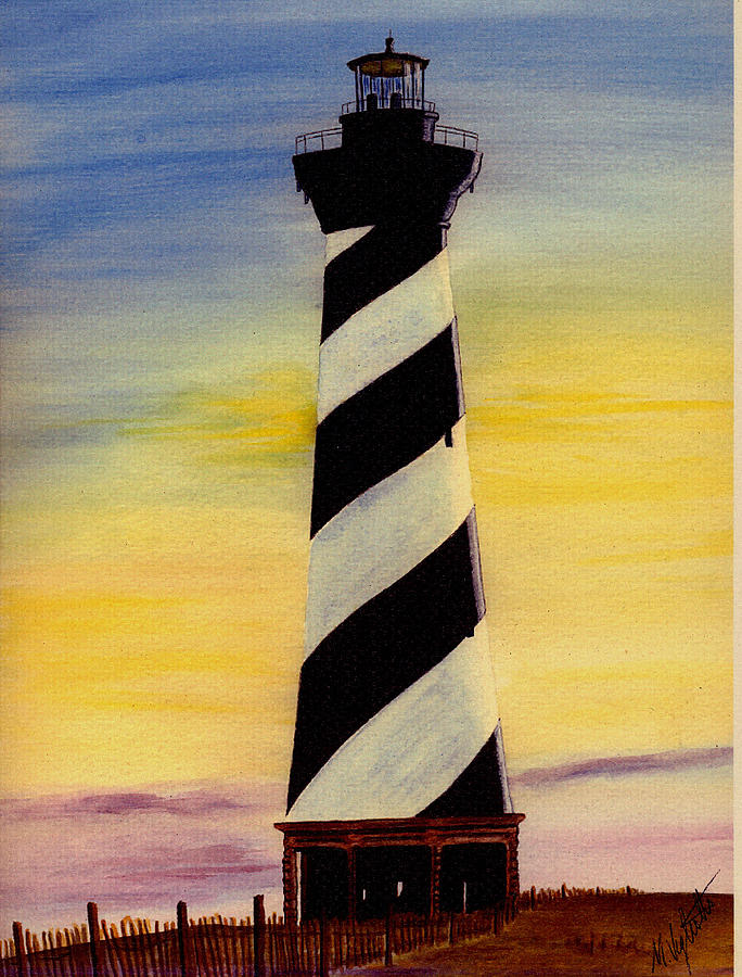 684x900 Cape Hatteras Lighthouse Painting By Michael Vigliotti