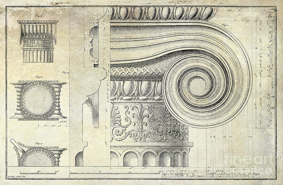 900x591 Architectural Capital Drawing By Jon Neidert
