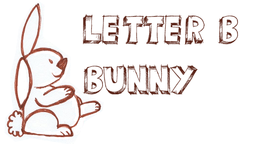 508x287 Drawing A Bunny Rabbit From A Capital Letter B Shape Drawing