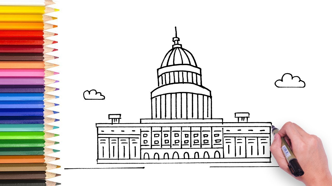 1280x720 Learn How To Draw Us Capital Building
