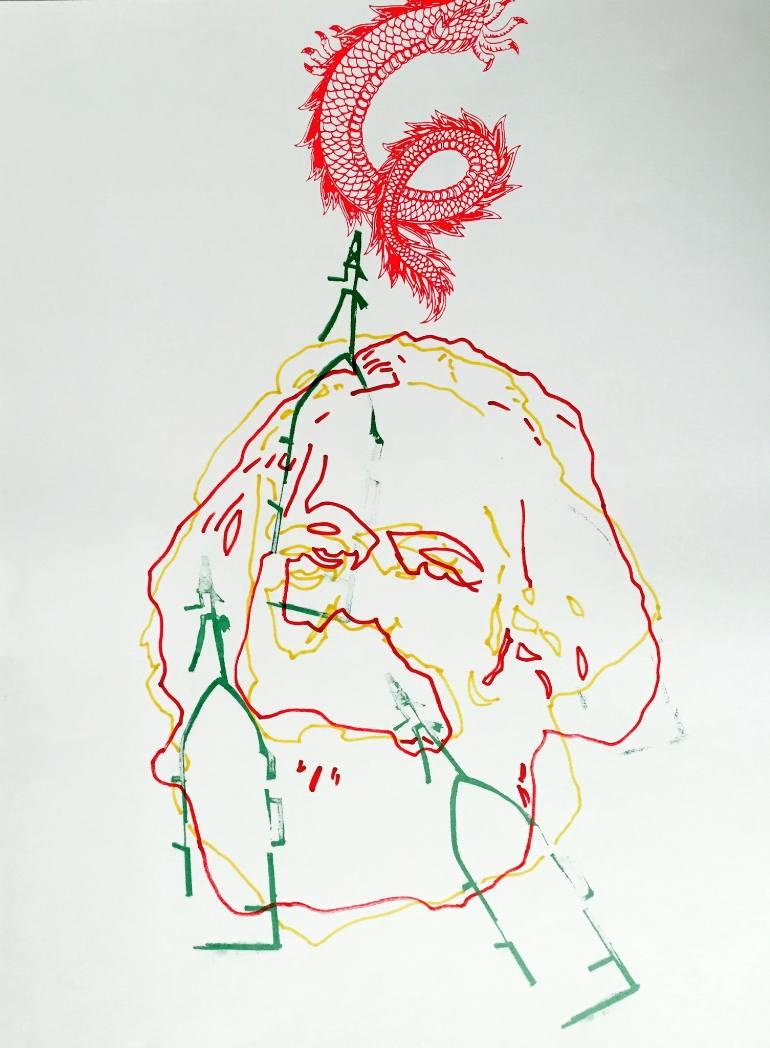 770x1048 Saatchi Art Capital (Marx) Drawing By Zoran Poposki