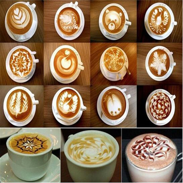 640x640 16 Pcsset Coffee Drawing Cappuccino Mold Fancy Natie Printing