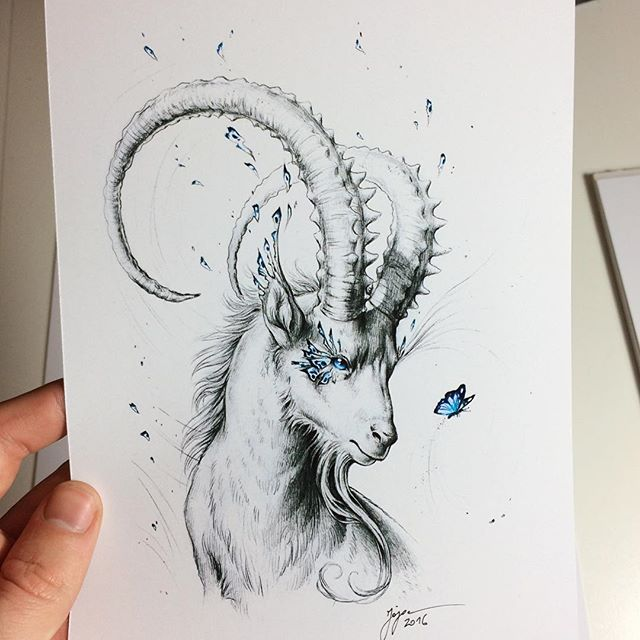 640x640 An A5 Size Print Of My Capricorn Drawing. Isn'T It Cute ^^ If
