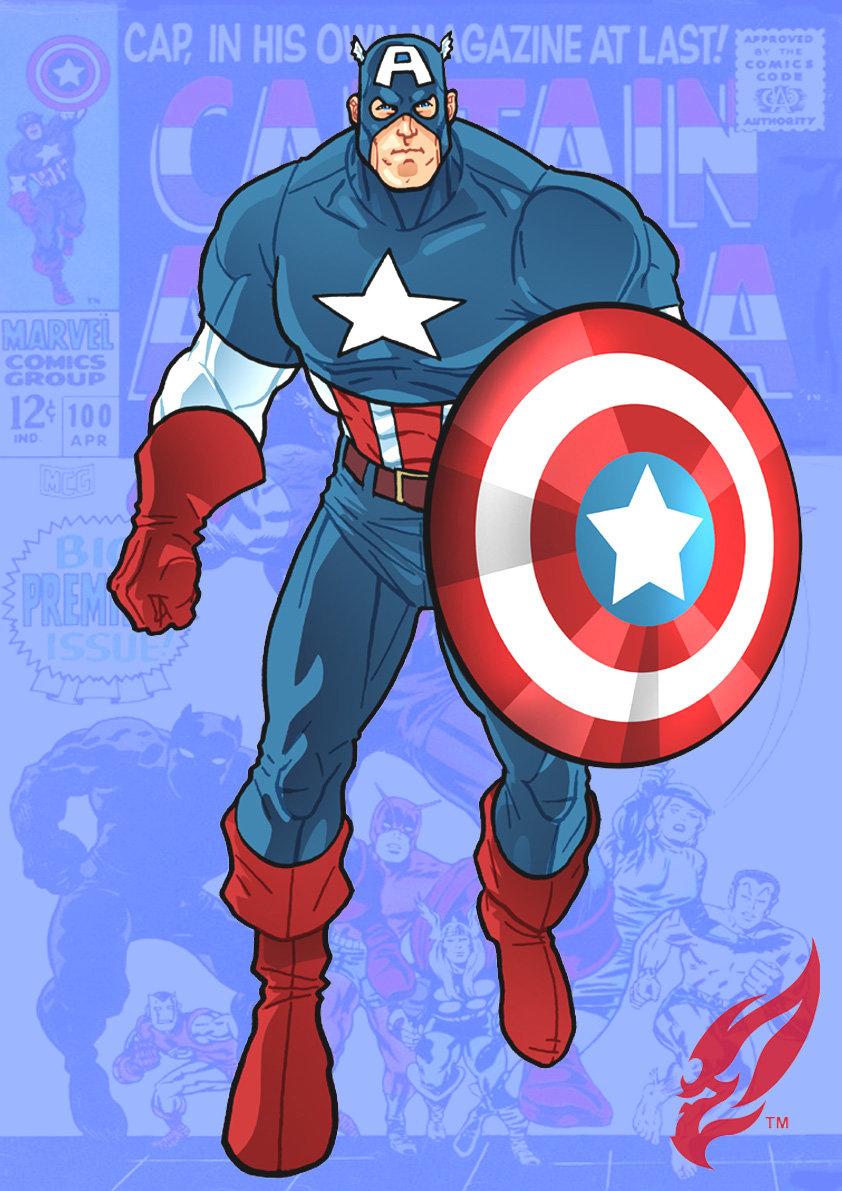 842x1191 Captain America Cartoon Drawing