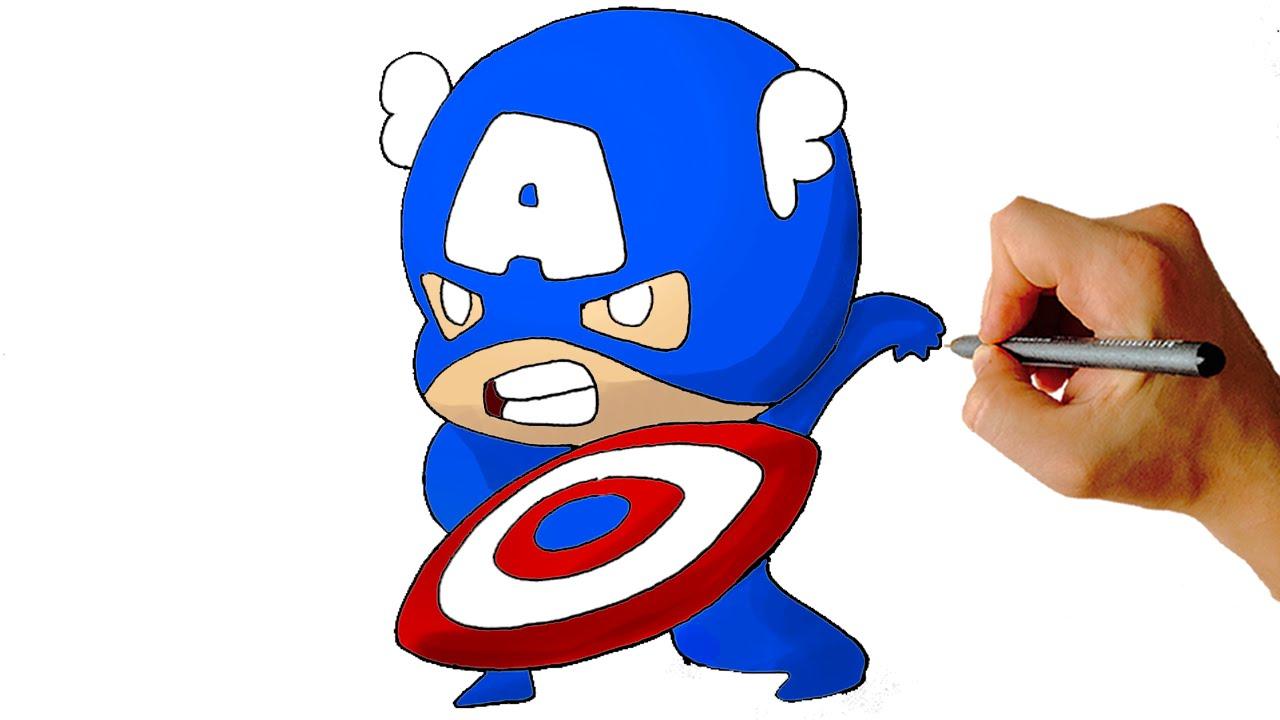 1280x720 Captain America Cartoon Drawing Captain America Cartoon Drawing