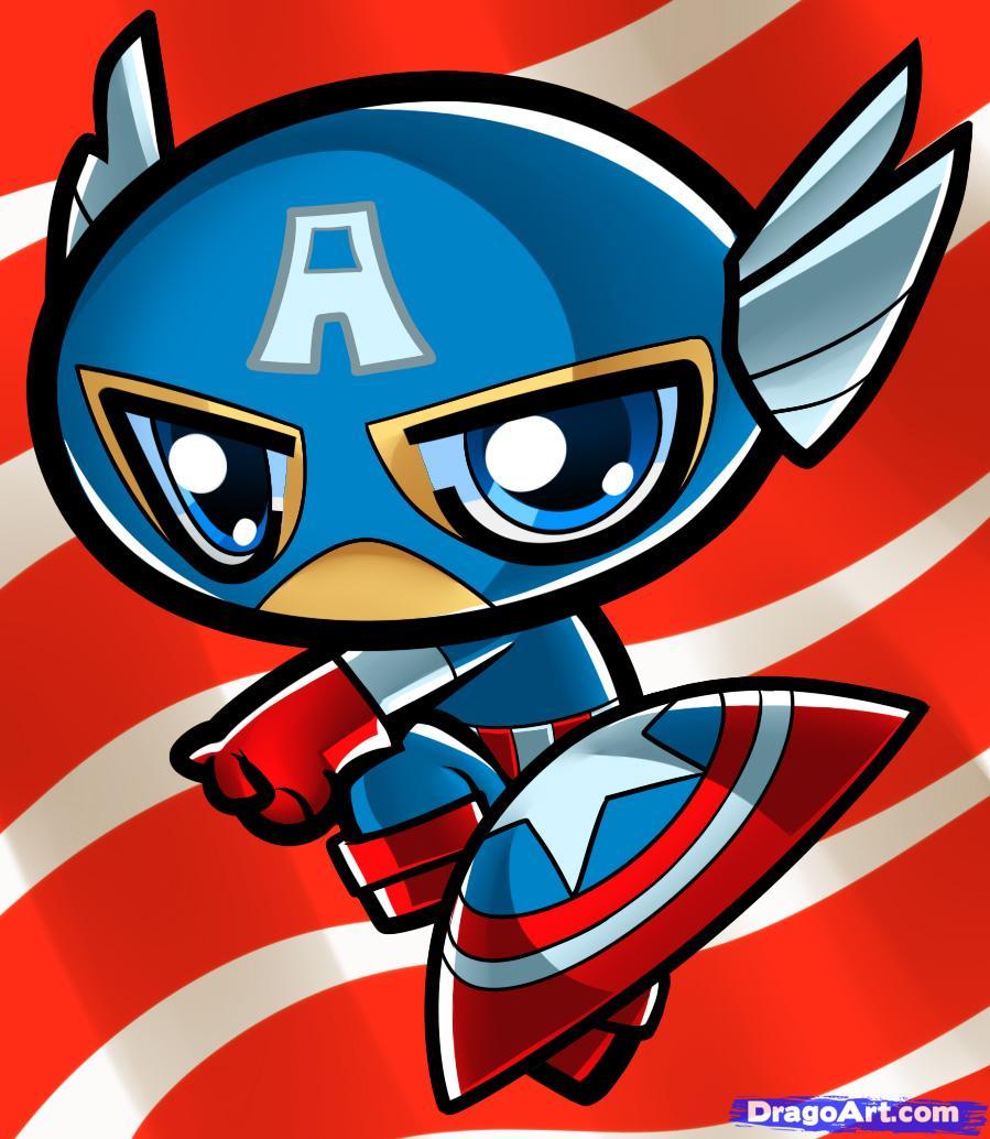 899x1034 Captain America Cartoon Drawing How To Draw Chibi Captain America
