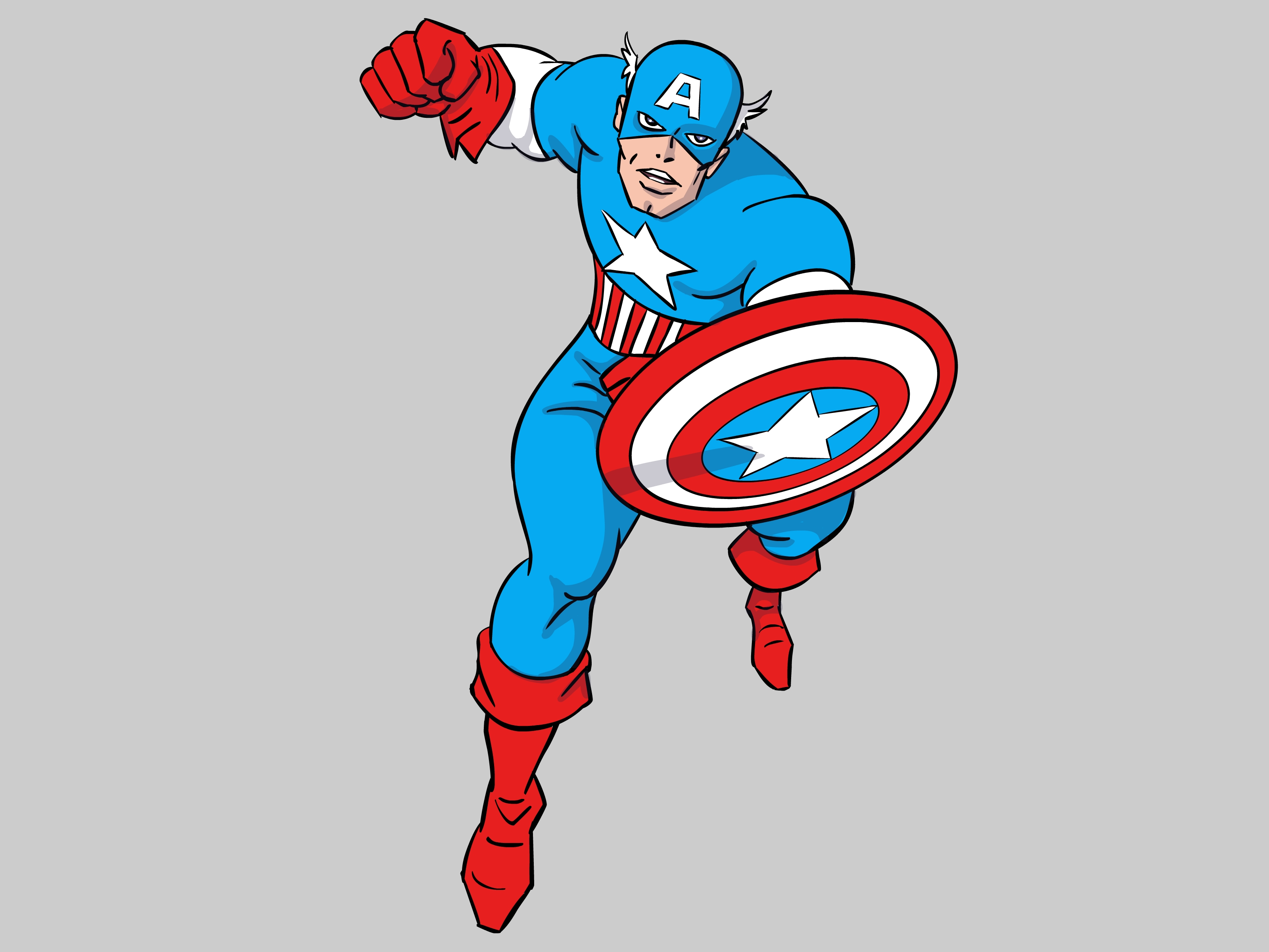 3200x2400 How To Draw Captain America (With Pictures)