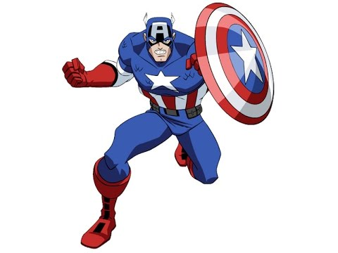 480x360 How To Draw Captain America