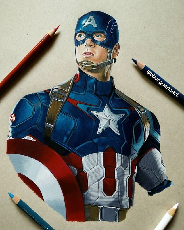 640x800 Captain America Civil War Drawing Captain America