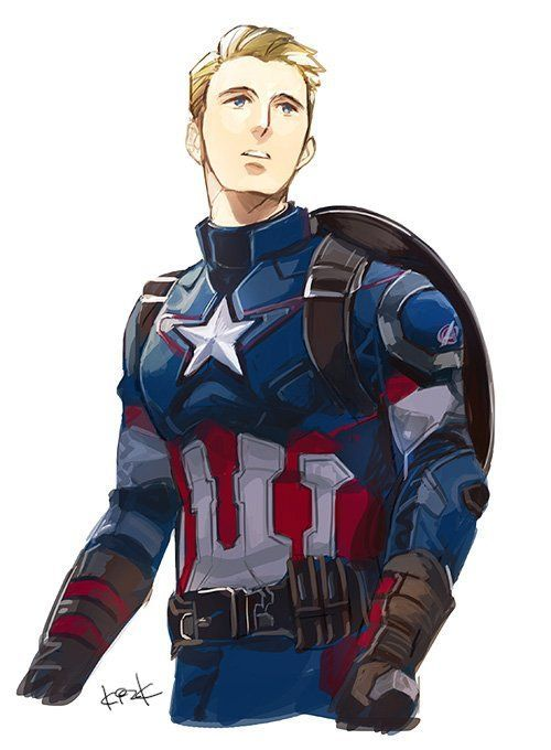 500x680 Captain America Drawing Drawing Skill