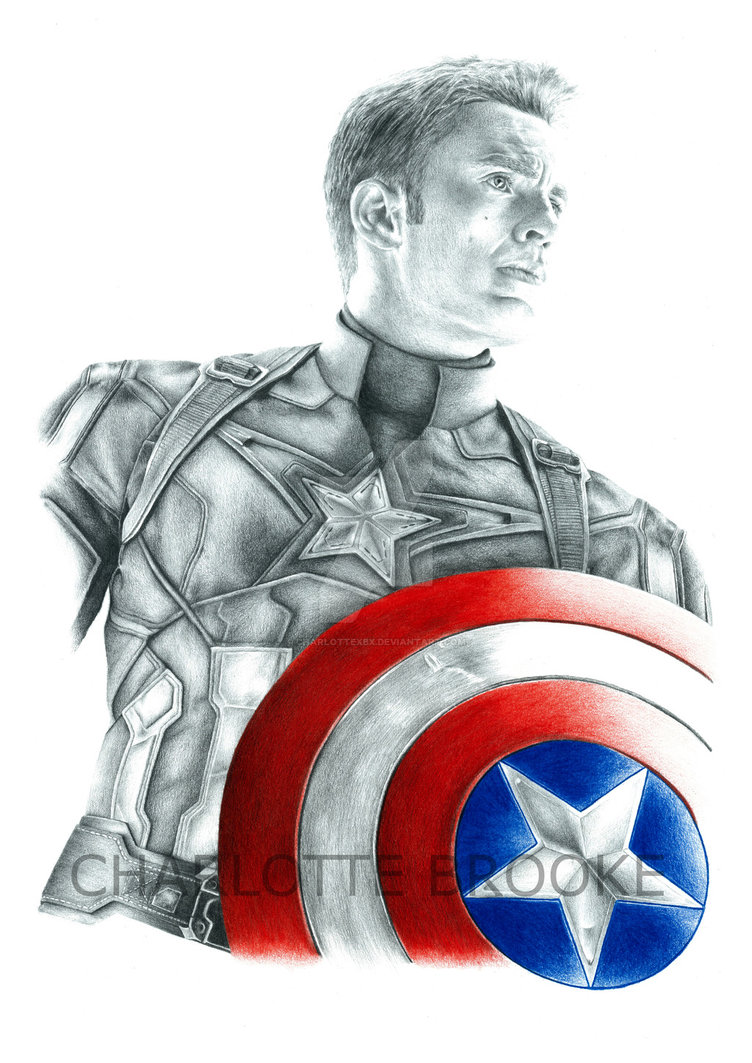 752x1063 Captain America Drawing By Charlottexbx