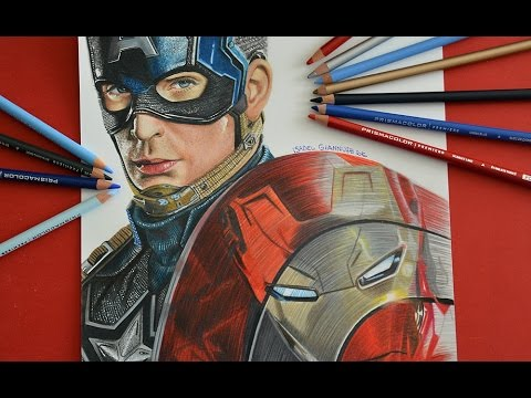 480x360 Drawing Captain America