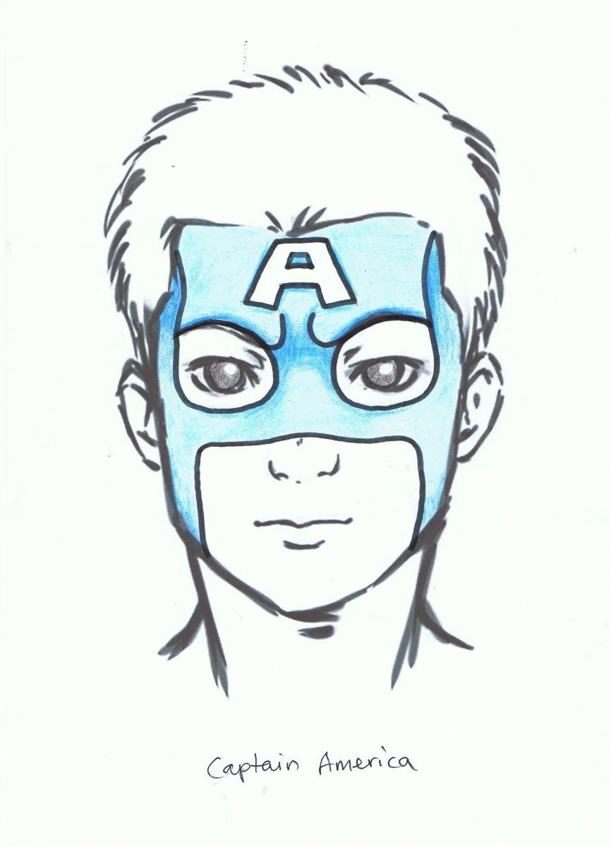 866x1200 Captain America Face Paint 1 Face Painting