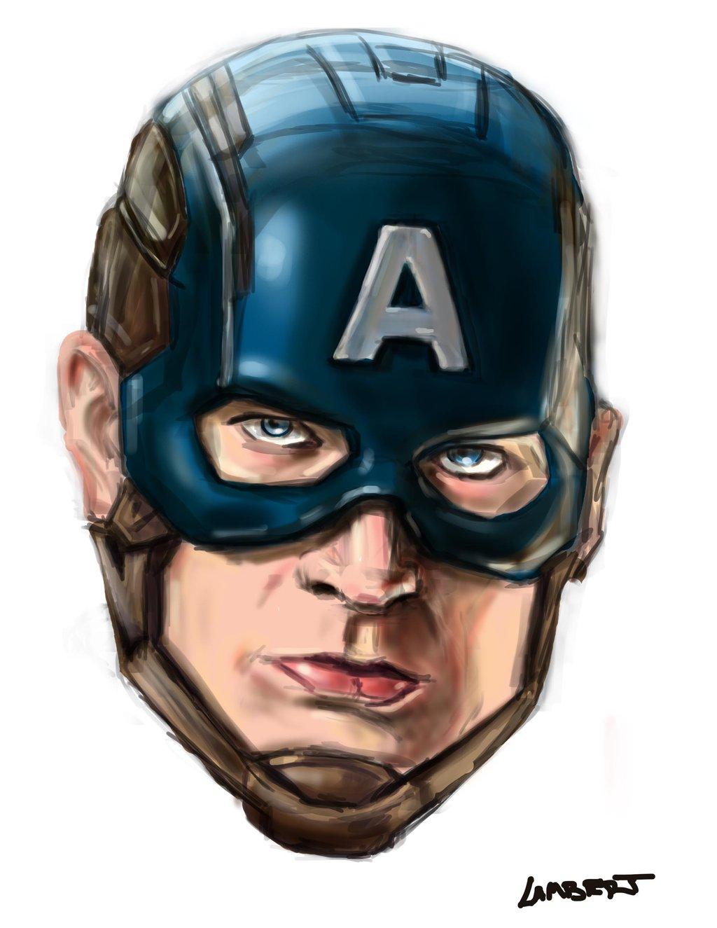 1024x1325 Captain America Head By