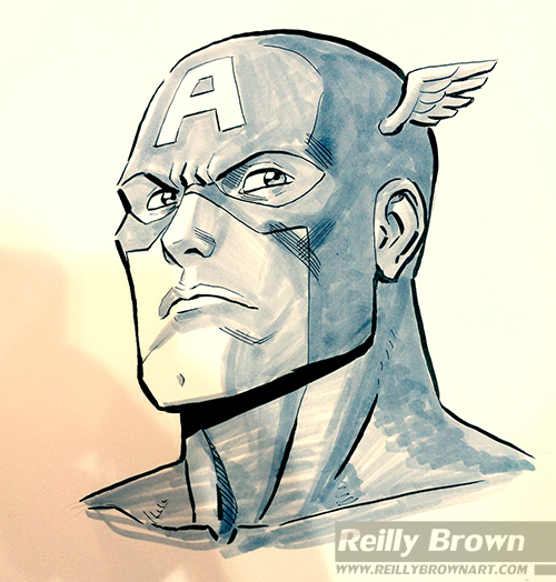 500x524 Captain America By Reillybrown