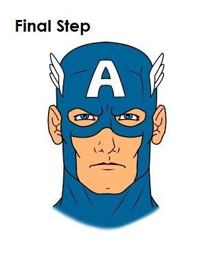 300x388 Draw Captain America Speech Pathology Capt America