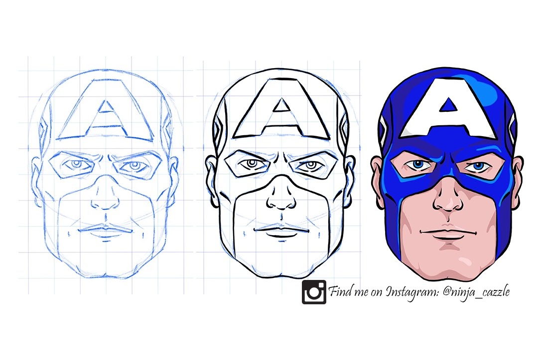 1080x720 Drawing Captain America (Ipad Pro)