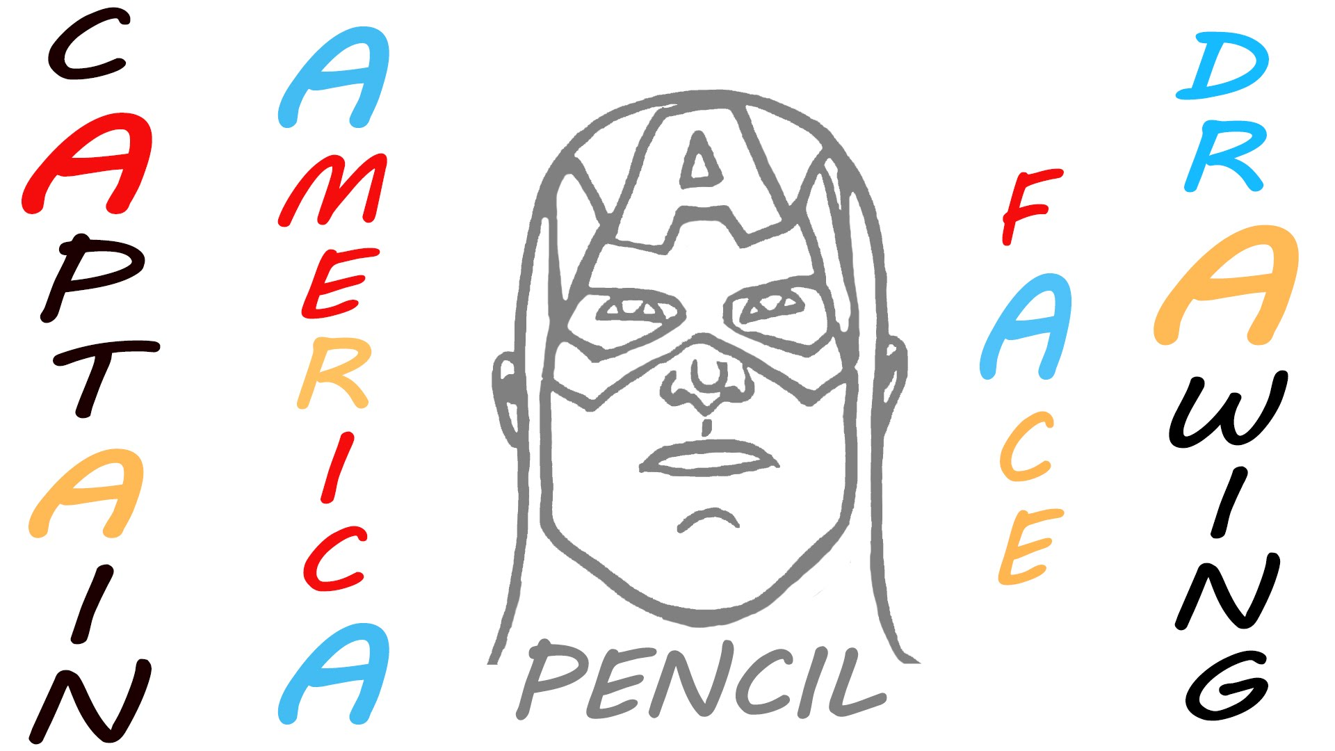 1920x1080 How To Draw Captain America Face Step By Step Easy Marvel