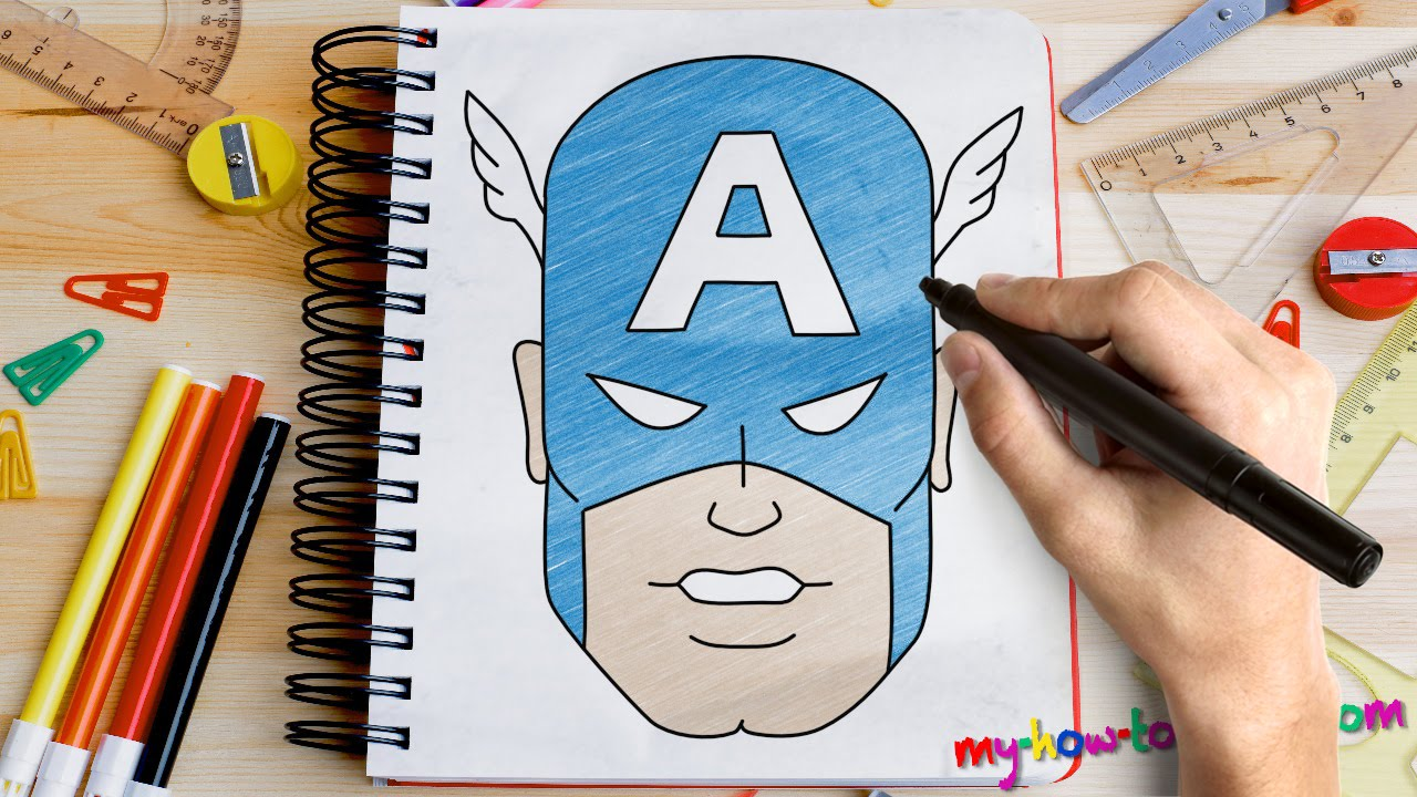 1280x720 How To Draw Captain America