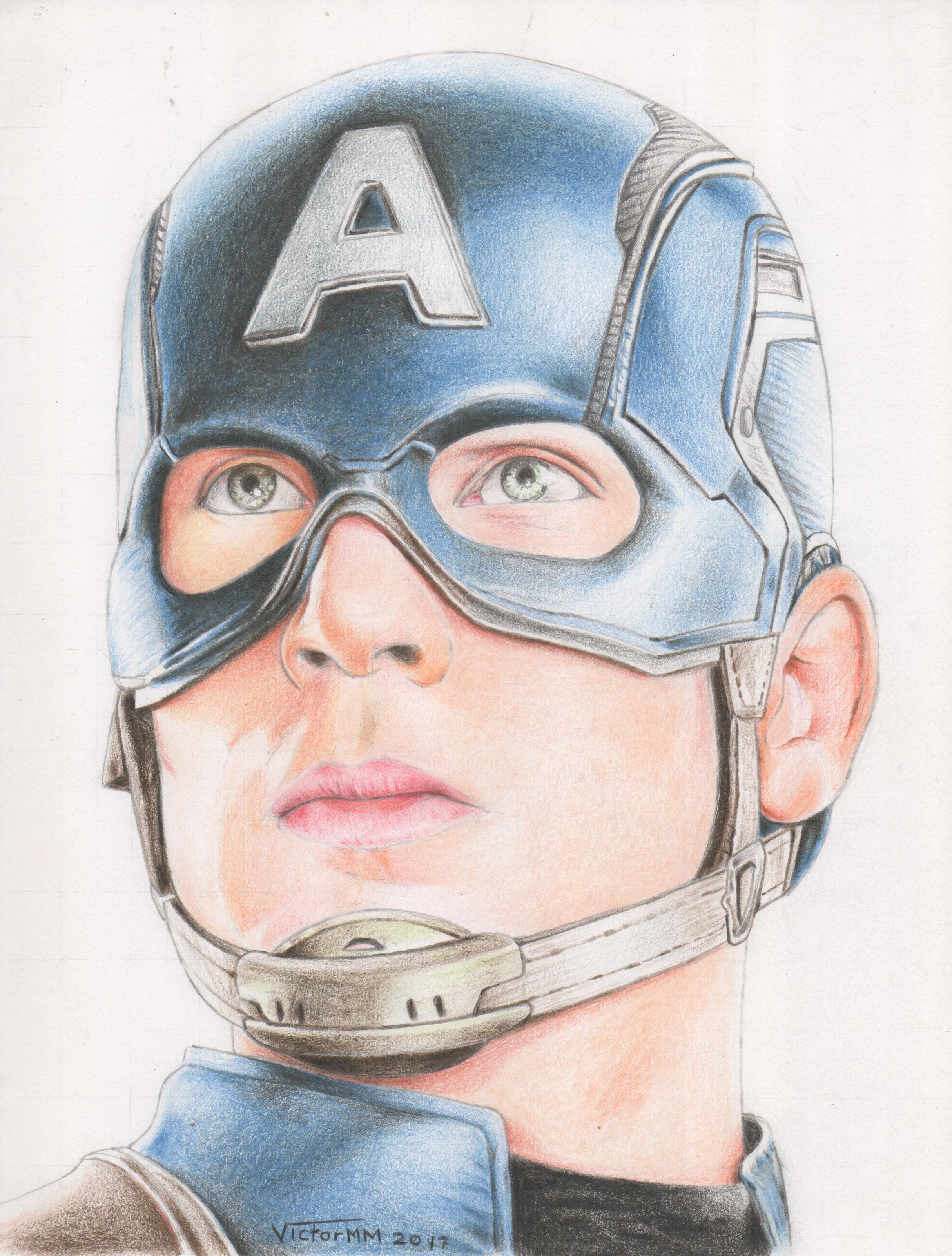 2429x3204 Retrato De Chris Evans Como Capitan America