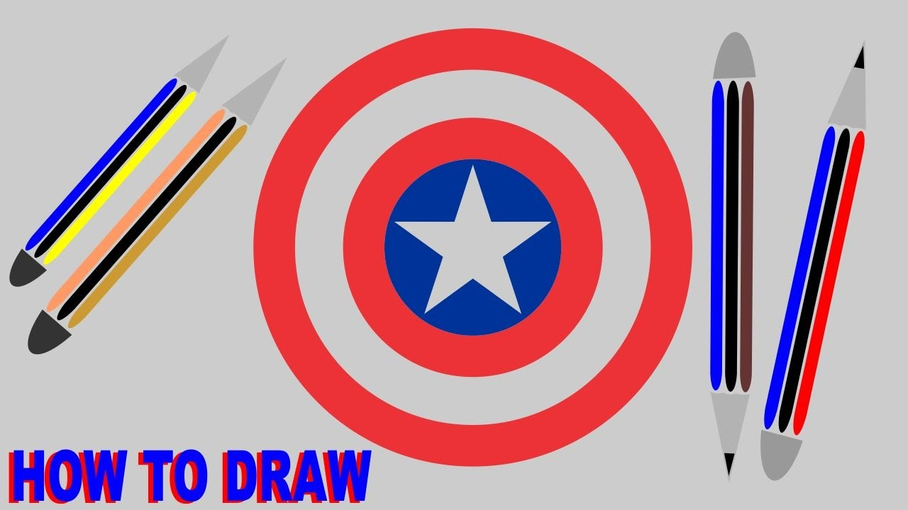 1280x720 How To Draw Captain America Shield