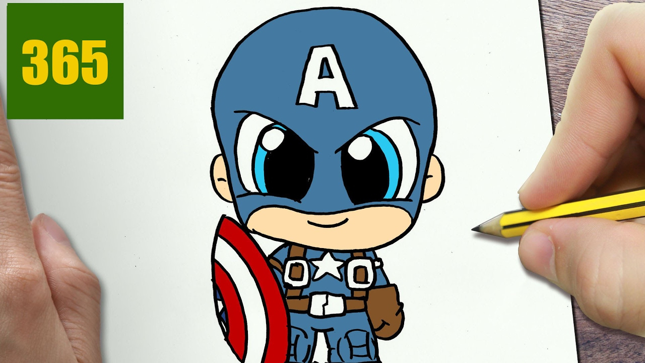 1280x720 Captain America Cartoon Drawing How To Draw A Captain America Cute