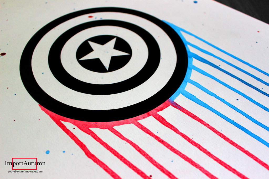 1024x683 Captain America [Speed Drawing Video] By Importautumn