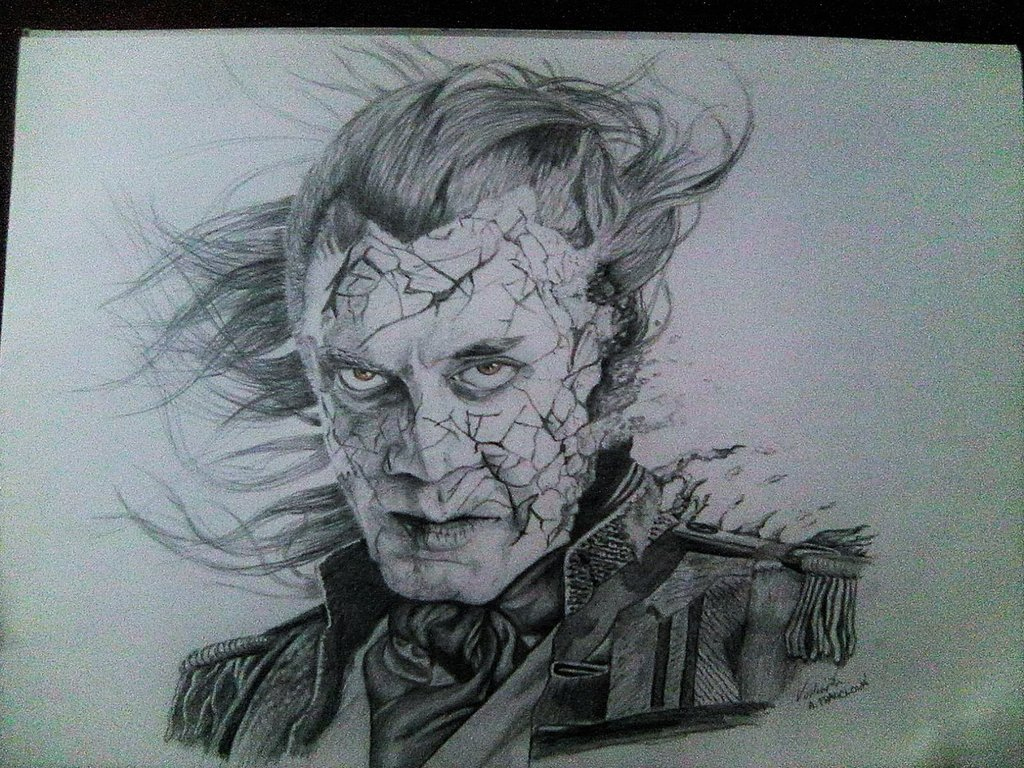 1024x768 Captain Salazar, Drawing By Marekcech