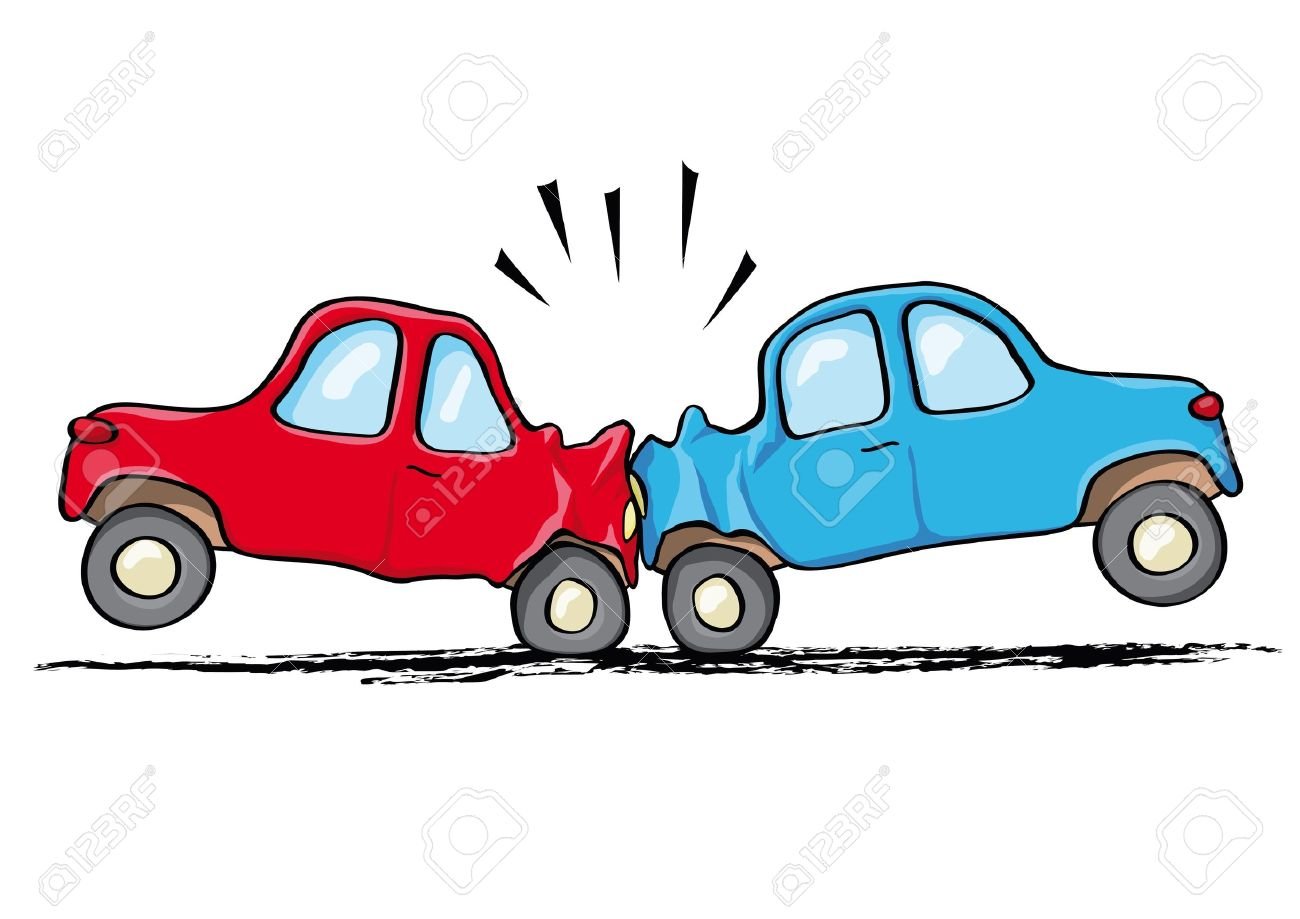 1300x919 Car Accident Royalty Free Cliparts, Vectors, And Stock