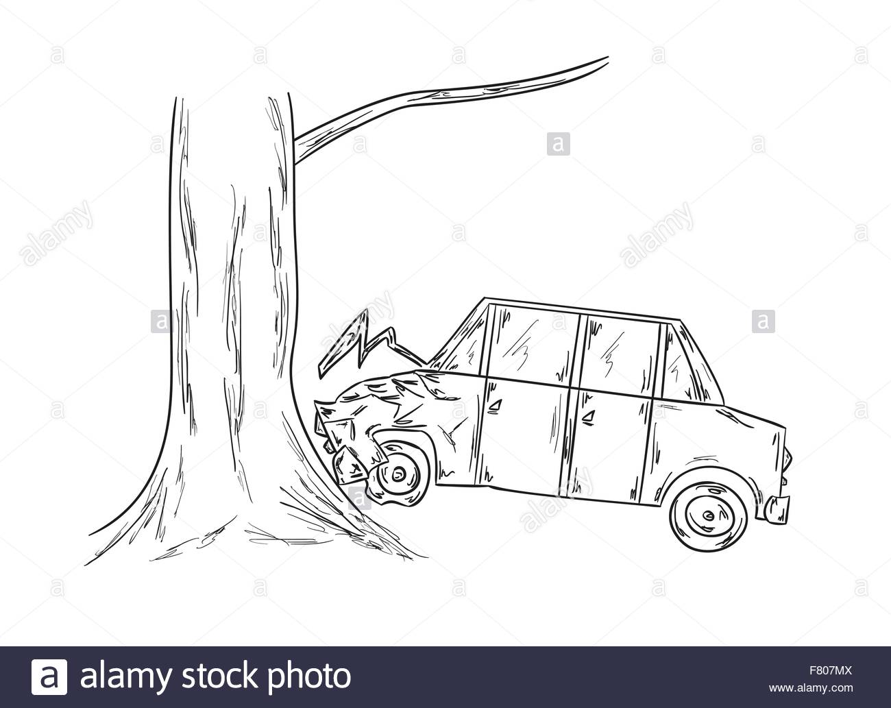 1300x1033 Car Accident Sketch Stock Vector Art Amp Illustration, Vector Image
