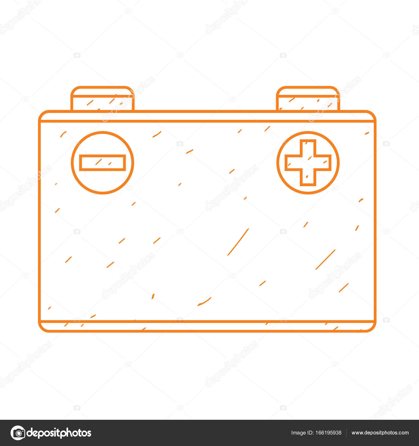 1600x1700 Car Battery Outline Drawing. Stock Vector Filkusto