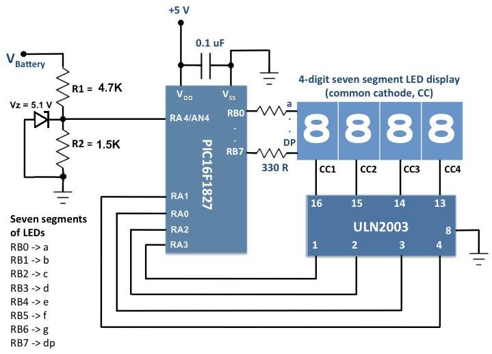719x517 Voltage Monitor For Car's Battery And Its Charging System