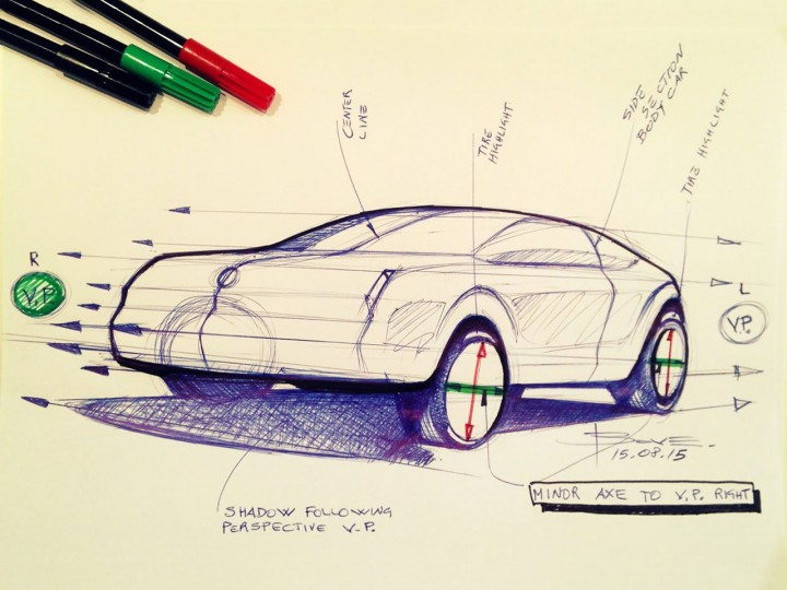 720x540 Car Sketching Tips Drawing Wheels In Perspective