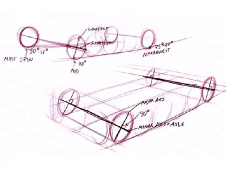 720x539 Drawing Car Wheels In Perspective