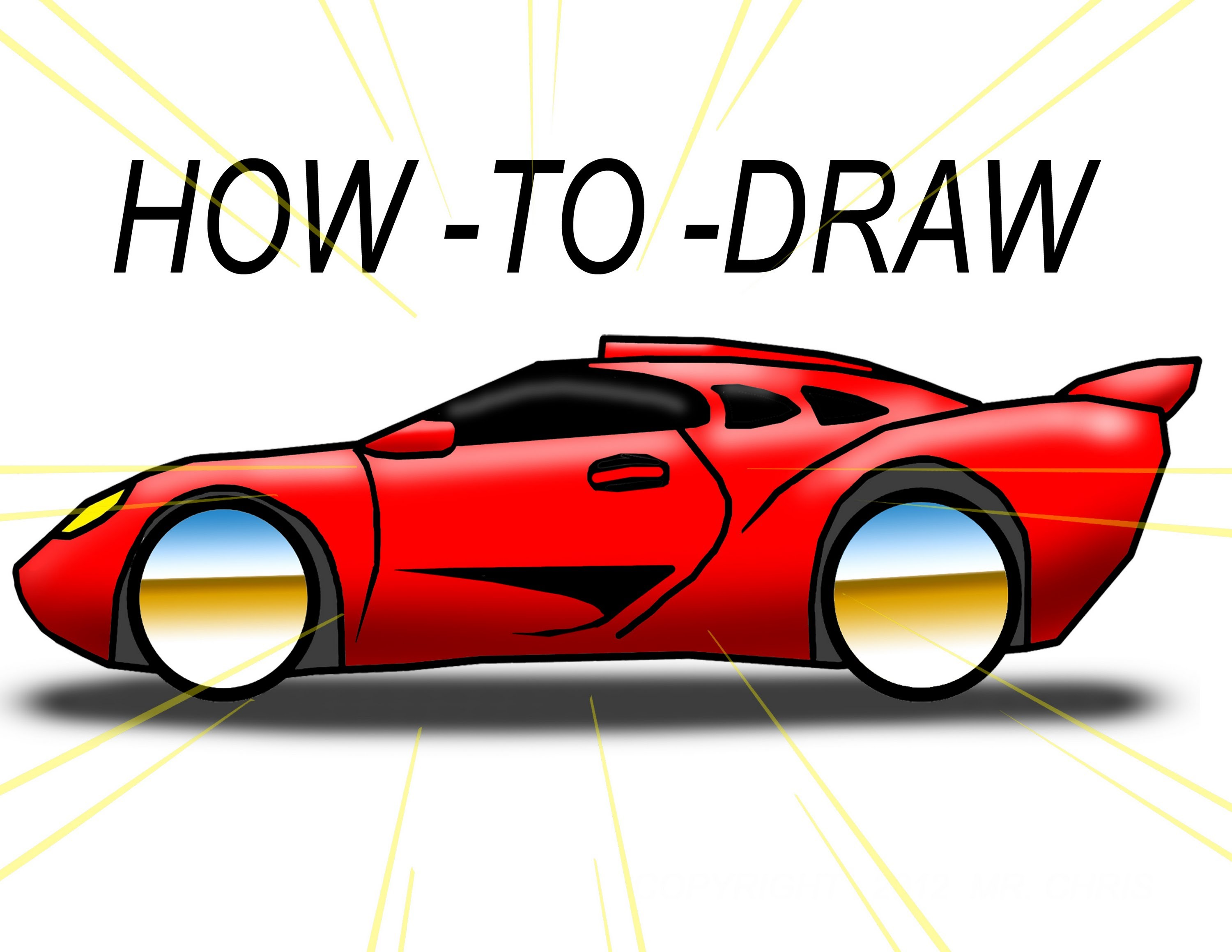 3000x2318 How To Draw Cartoon Exotic Car ( The Ez Way)