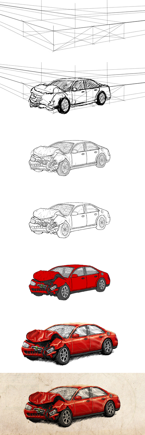 Car Crash Drawing At Getdrawings Com Free For Personal Use Car