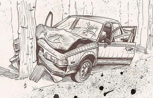 Car Crash Drawing at GetDrawings.com | Free for personal use Car ...