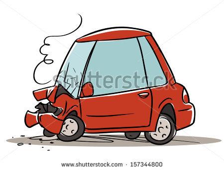 450x343 Stock Vector Car Crash Cartoon Illustration Isolated On White