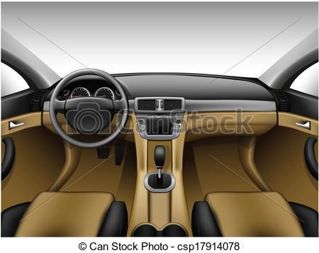 450x357 Light Beige Leather Car Interior. Dashboard