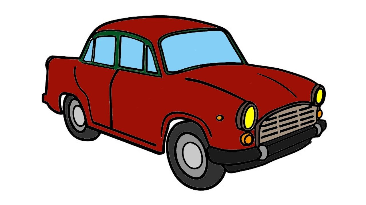 1280x720 Car Coloring Pages And Drawing