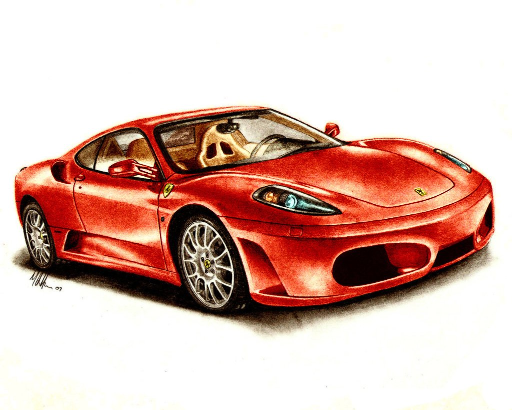 1024x819 Muscle Car Sketches Amp Auto Art