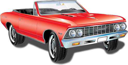 495x251 Retro Car Realistic Drawing Illustration With Colors Free Vector