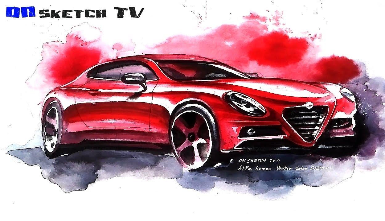 1249x720 Tv Car Sketch