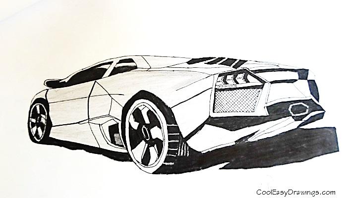690x400 Gallery Cross Hatching Car Drawings,