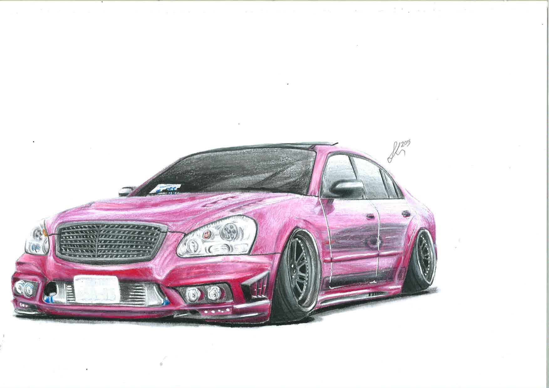 1753x1240 Hey! New On Here! Massive Fan Of Stanced Cars And Drawing Them