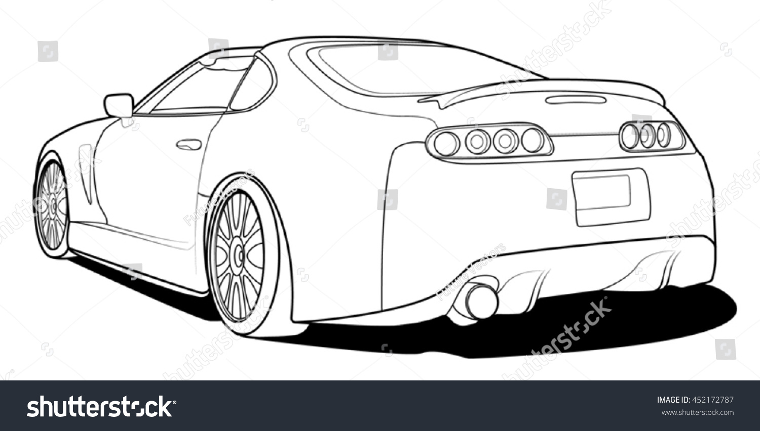 1500x852 Outline Of Sports Car